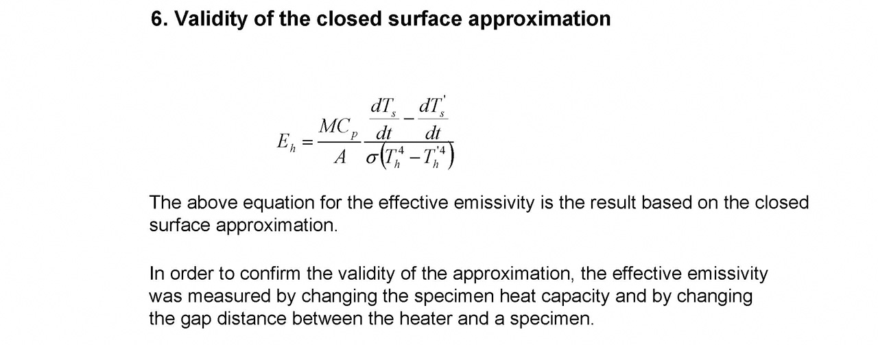 Validity of the closed surface approximation
